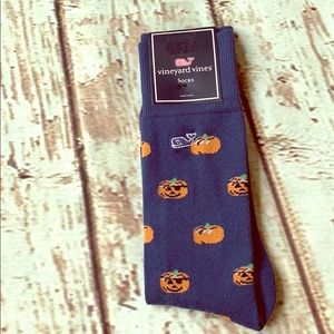 🆕🎃VINEYARD VINES 🎃Pumpkin Patch Navy Socks